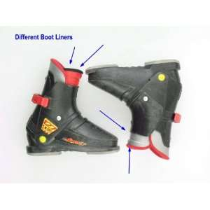 Black Ski Boots Kids Size 2 Mismatched Boot Liners: Sports & Outdoors