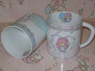 New 2011 Sanrio LITTLE TWIN STARS Ceramic Mugs & Plate Set   Gift Set
