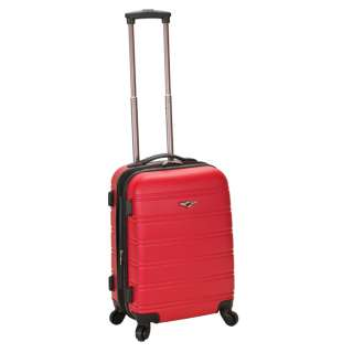 Rockland Luggage Melbourne Series Carry On Upright   Red 675478145036