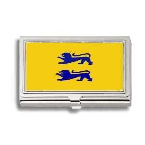 Danish Minority Schleswig Flag Business Card Holder Metal