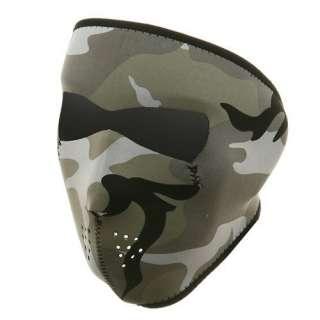Neoprene Full Face Mask Urban Camouflage W11S23D Clothing