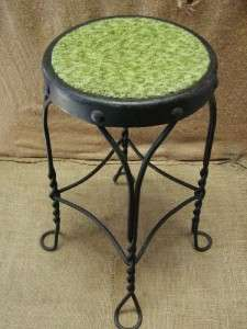 Vintage Ice Cream Chair Stool  Antique Old Stools Parlor Plant Stand