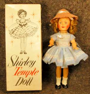 1950s Ideal 12 SHIRLEY TEMPLE Vinyl Doll in Original Box #9500