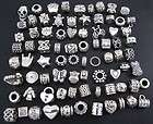 Wholesale 100pcs Tibetan Silver Spacer Charms Beads Fit European