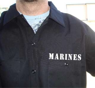 Authentic DICKIES Work Shirt ALWAYS A MARINE Short Sleeve Brand New