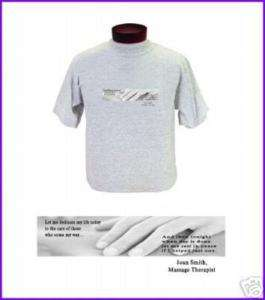Massage Therapist Prayer Strip T shirt PERSONALIZED