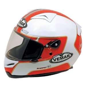 Vemar Eclipse Motorcycle Helmet   Metha White/Red  Sports