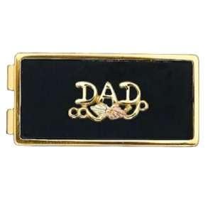 Stamper 12K Black Hills Solid Gold Dad Money Clip. Leaves