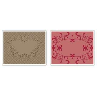 Textured Impressions   Embossing Folders   Heart and Ornate Frames Set
