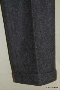 Polo Ralph Lauren Wool Pants Slacks 34 x 34 Pleated Cuffed Charcoal