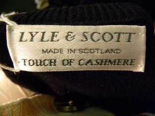 LYLE & SCOTT Mens Blue/Red Argyle Cashmere Sweater M/L