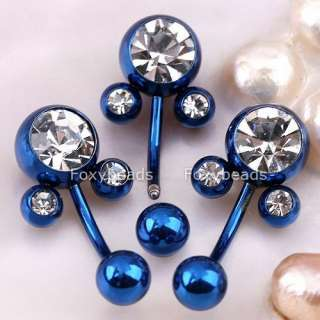 BLUE *Mickey Mouse* Belly Button Ring Navel Jewels 10PC