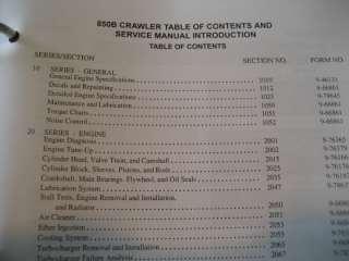 Case 850B Crawler Dozer Service/Repair Manual , 850 B