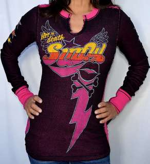 Sinful by Affliction JEZEBELLE Womans Long Sleeve Thermal