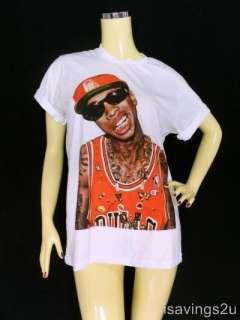 TYGA T shirt, Lil Wayne HIP HOP Rap ROCK, White S M & L