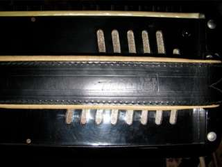 Vintage Noble Stroller Piano Accordion in Case Art Deco RARE Made in