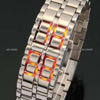 Lava Iron LED Lights Fashion Sports Digital Bracelet Mens Lady Women