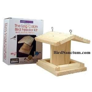 Wooden Log Cabin Bird Feeder Kit: Home & Kitchen