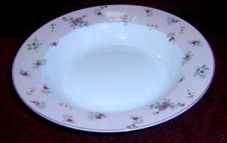 Laura Ashley Pink Petite Fl Rimmed Soup Bowl