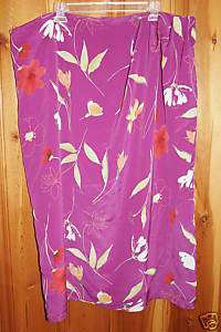 Plus Size Purple Floral Skirt from Lane Bryant Size 28