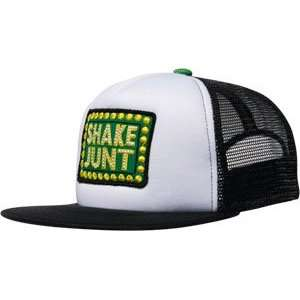 Shake Junt Box Logo Mesh Hat Adj   White/Black: Sports