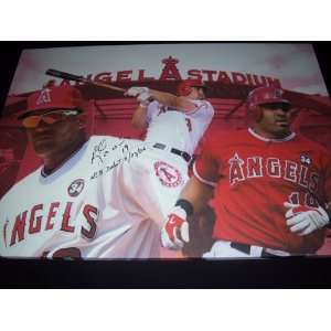 Upper Deck Authentic Kendry Morales Autograph Los Angeles Angels 32x23