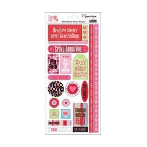 Love Collection Love Phrases Cardstock Scrapbook Stickers