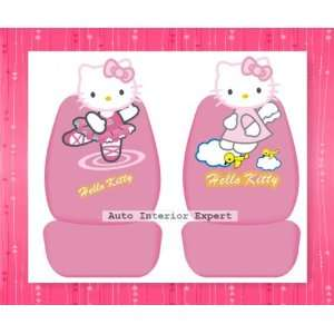 10PCS HELLO KITTY DANCE 3 D UNIVERSAL CAR SEAT COVER SET