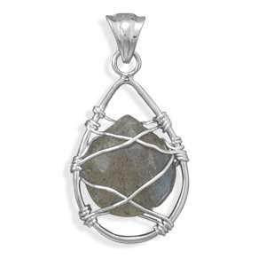 Wire Wrap Labradorite Pendant Jewelry