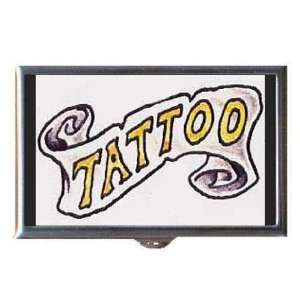 Tattoo Vintage Banner Retro Coin, Mint or Pill Box: Made in USA!