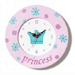 Pink Princess Wood Wall Clock CT 36251