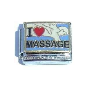 I Love Massage Italian Charm Bracelet Jewelry Link Jewelry