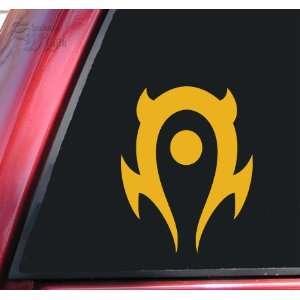 World of Warcraft Horde Vinyl Decal Sticker   Mustard