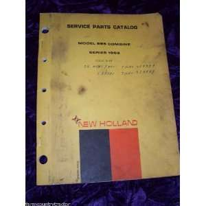 New Holland 995 Combine OEM Parts Manual (issue 3 69): New Holland