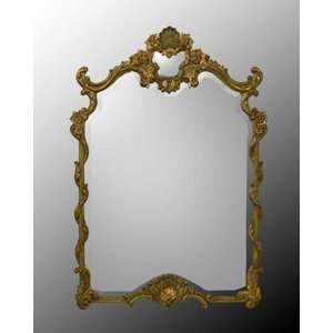 Ornate Gold Wood Framed Bevel Mirror