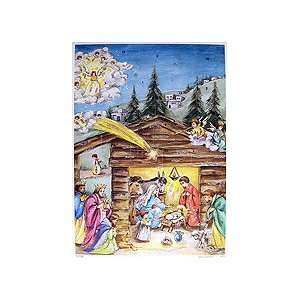 Holy Star Vintage Style Advent Calendar