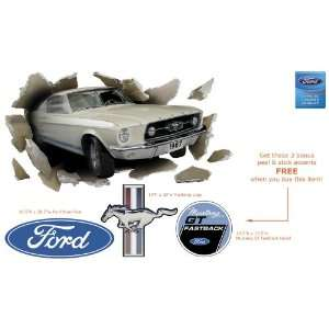 1967 Ford Mustang GT Fastback Through the Wall Home