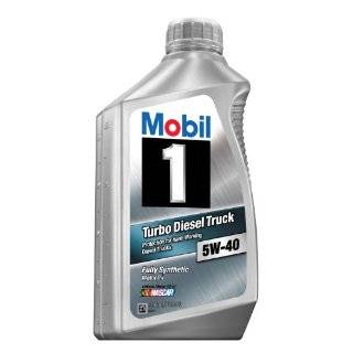 Mobil 1 98HM64 Turbo Diesel Truck 5W 40 Synthetic Motor Oil   1 Quart