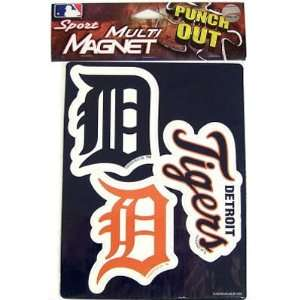 Detroit Tigers Official Team Logo Car Fridge Magnet Set (3