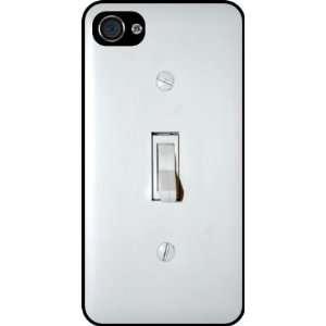 Rikki KnightTM Funny Light Switch Rubber Black iphone Case