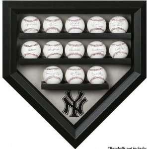 New York Yankees 13 Baseball Home Plate Shaped Display