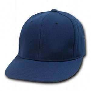 NAVY BLUE RETRO FITTED BASEBALL CAP HAT CAPS SIZE 7 1/2
