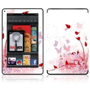 Kindle Fire Decal Skin Sticker   Pink Butterfly