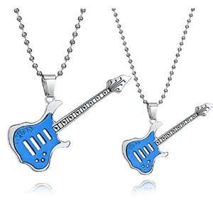 Popular High end Fashion Titanium Steel Guitar Lovers Guitar Necklace