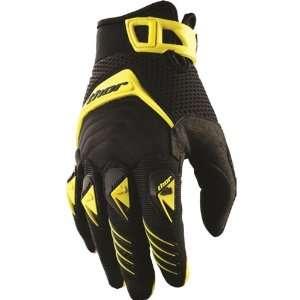 Thor MX Deflector Mens Dirt Bike Motorcycle Gloves   Yellow / X Large