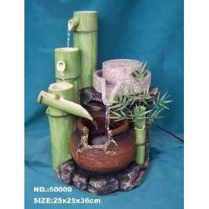 Bamboo water wheel fountain accessory 8 inch indoor bamboo water fountain workwithnaturefo