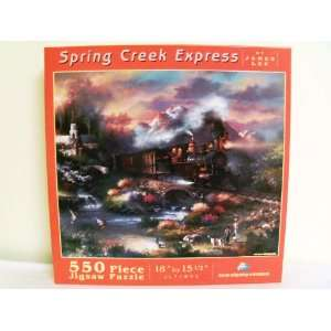 SunsOut 550 Piece Puzzle Spring Creek Express Toys & Games