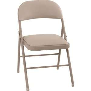 Cosco Vinyl Folding Chair   Antique Linen
