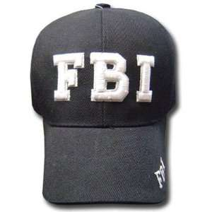 BLACK FBI LAW ENFORCEMENT BASEBALL CAP HAT FEDERAL ADJ