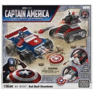 Mega Bloks Marvel Micro Action Figures Series 2 Captain America Common